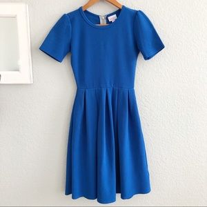 LuLaRoe Amelia Solid Royal Blue Full A-Line Dress